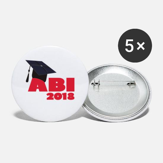Idea Regalo Bottoni & Spille - Abi High School 2018 - Spille piccole bianco