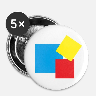 Rectangle rectangles - Badge petit 25 mm