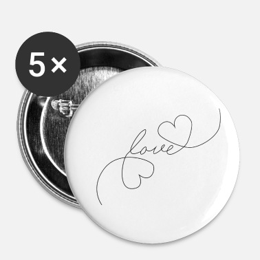 Tlc Heart Love - Oneline - Buttons/Badges lille, 25 mm