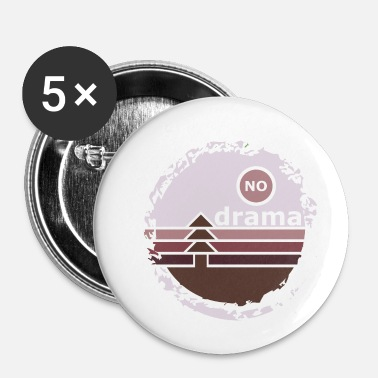 Drama no drama - Buttons small 1''/25 mm (5-pack)