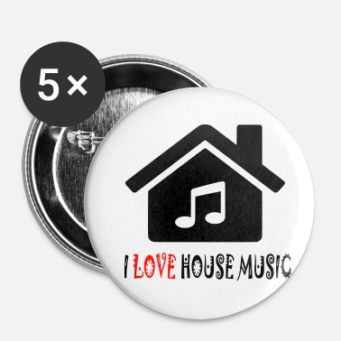 House House Music House Party Shirt - Buttons/Badges lille, 25 mm