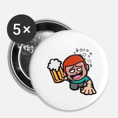 Tchin Tchin Vive! Funny Party Guy Creeping Beer - cadeau - Badge petit 25 mm