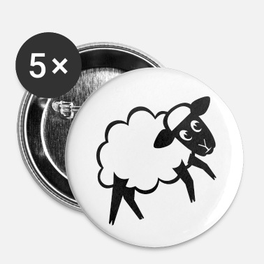 Scharf Mouton - Innocent agneau 1 sw - Badge petit 25 mm