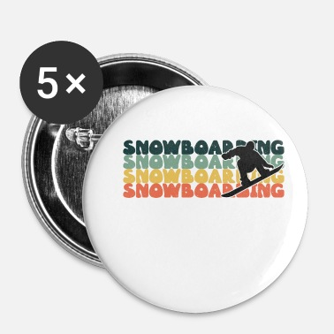 Snowboard Snowboarden Snowboarden Snowboarden Snowboarden - Buttons klein 25 mm (5-pack)
