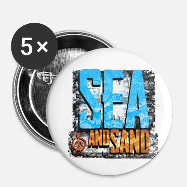 Sable mer et sable - Badge petit 25 mm