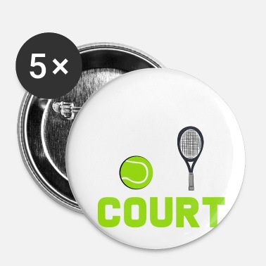 Court De Tennis court de tennis - Badge petit 25 mm