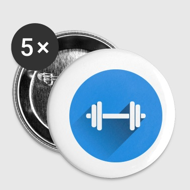 Gym training dumbbell geschenk idee - Buttons klein 25 mm