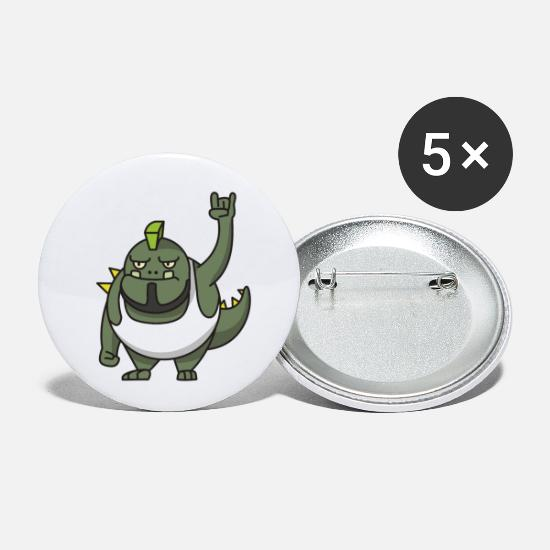 Gift Idea Buttons - Troll Rock Gift Punk Comic funny fantasy - Small Buttons white