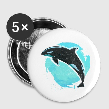 Vintage killer whale killer whale - Buttons small 25 mm