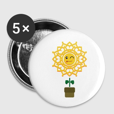 Flower Pot Sweet sunflower in pot gift idea flower - Buttons small 25 mm