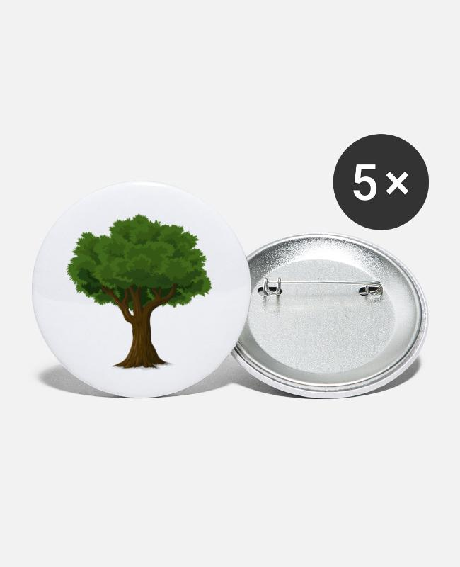 Cherry Blossom Buttons - tree - Small Buttons white