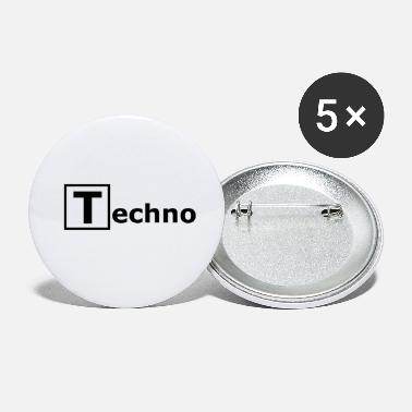 Techno T rectangle gift idea - Small Buttons