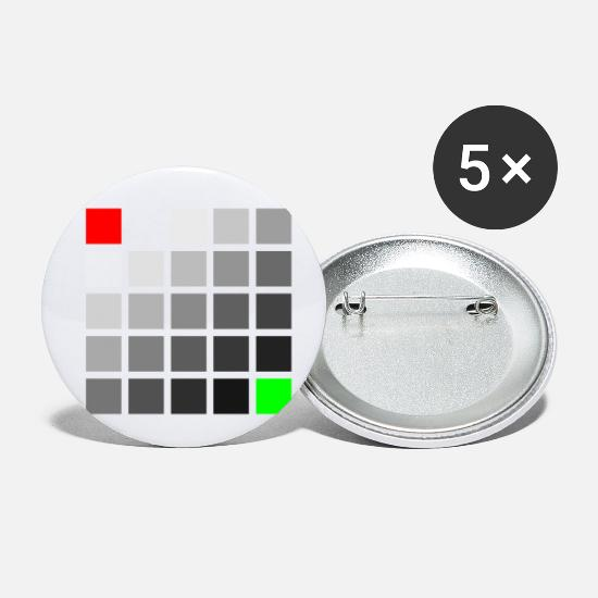 Red Buttons - Red gray green squares - Small Buttons white