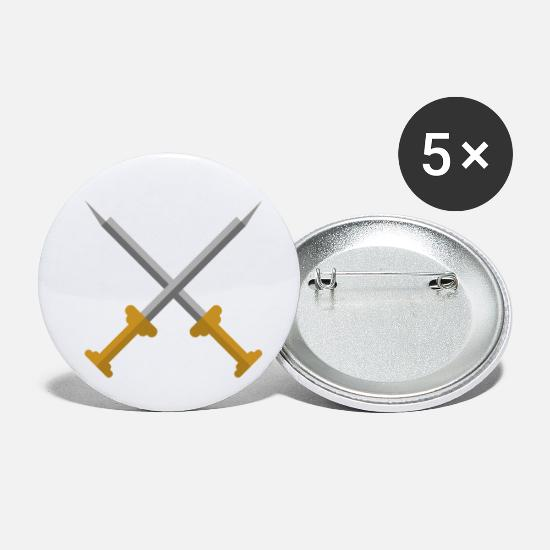 Ninja Buttons - Swords - Small Buttons white