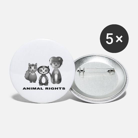 Animal Rights Buttons & Anstecker - Animal rights - Buttons klein Weiß