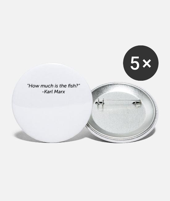 Quote Buttons - Wrongly assigned quote: Karl Marx - Small Buttons white