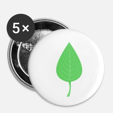 Feuille feuille - Badge petit 25 mm