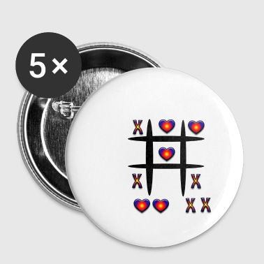 Tic-Tac-Toe, play - Buttons small 25 mm