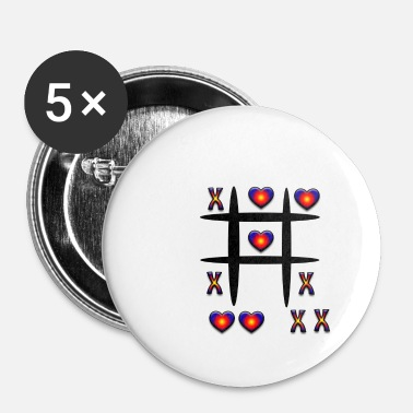 Tic Tac Toe Tic-Tac-Toe, play - Buttons small 25 mm