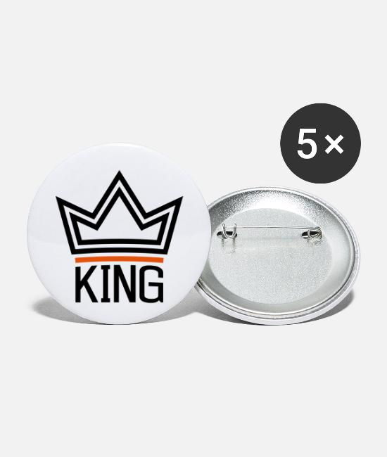 Husband Buttons - King - Small Buttons white