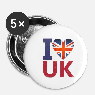 Uk Jeg elsker UK - Buttons/Badges lille, 25 mm