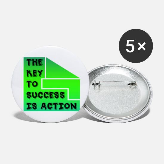 Negotiate Buttons - The key to success is action - Small Buttons white