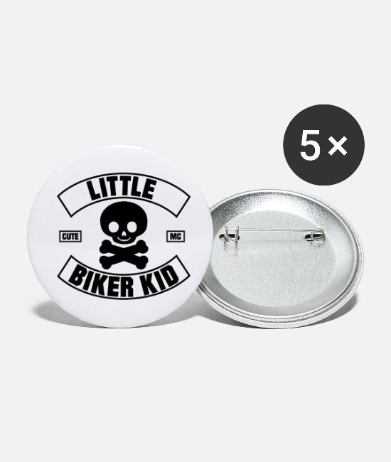 Bengel Buttons & Anstecker - Little Biker Kid MC - Buttons klein Weiß