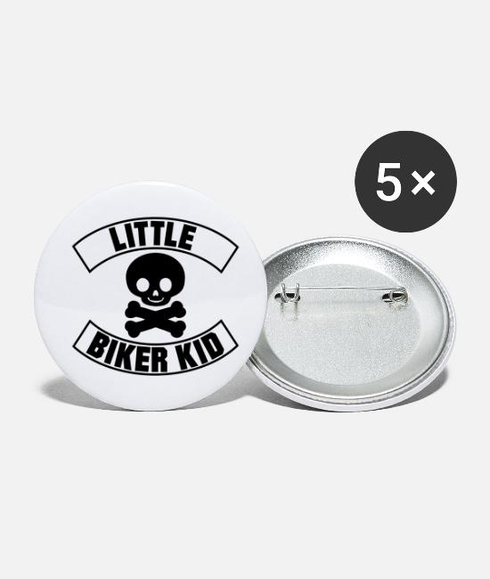 Biker Buttons & Anstecker - Little Biker Kid - Buttons klein Weiß