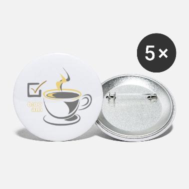 Early Risers Coffee CHECK for early risers - Small Buttons