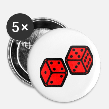 Lykkeamulet Dice design original - Buttons/Badges lille, 25 mm