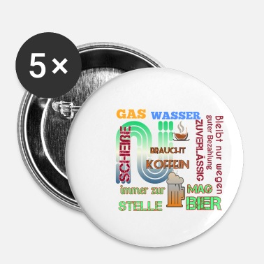 Gas Gas water - Buttons klein 25 mm (5-pack)