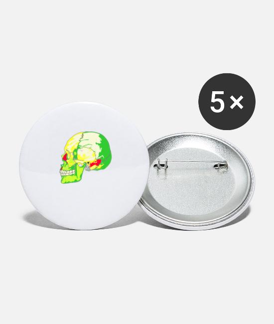 Skull Buttons - skull bright - Small Buttons white