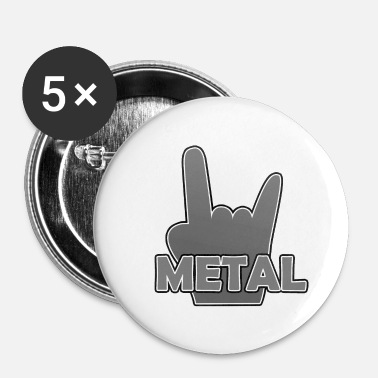 Metal métal - Badge petit 25 mm