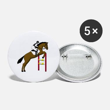 Show Jumping show jumping horse - Small Buttons