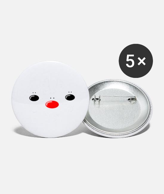 Hipster Buttons - Rudolf & Friends - Small Buttons white