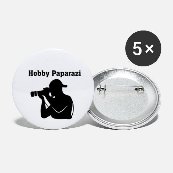 Cool Sayings Buttons - Hobby paparazi - Small Buttons white