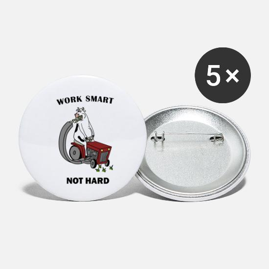 Sayings Buttons - Work Smart - Small Buttons white