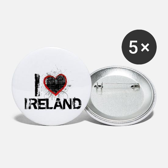 Love Buttons - i love ireland uk - Small Buttons white