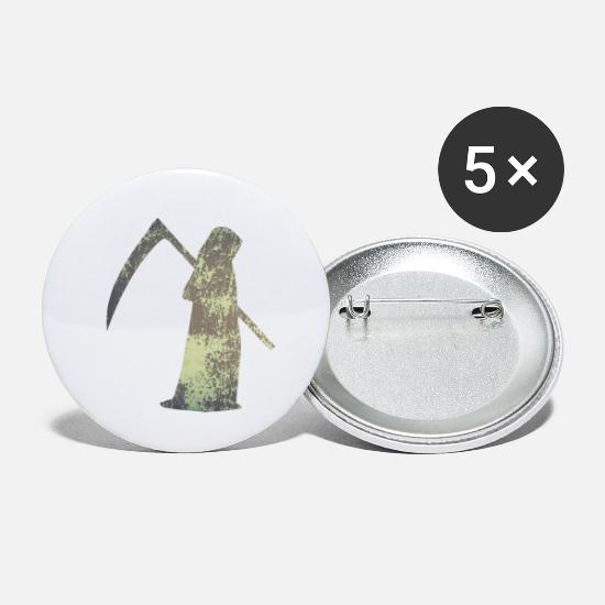 Gift Idea Buttons - death - Small Buttons white