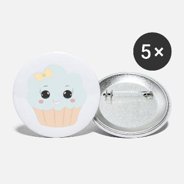 Beady Eyes Cute muffin with ribbon button eyes gift - Small Buttons