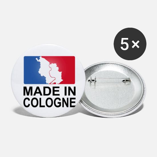 Hometown Buttons - Made in Cologne Cologne Logo sporty - Small Buttons white