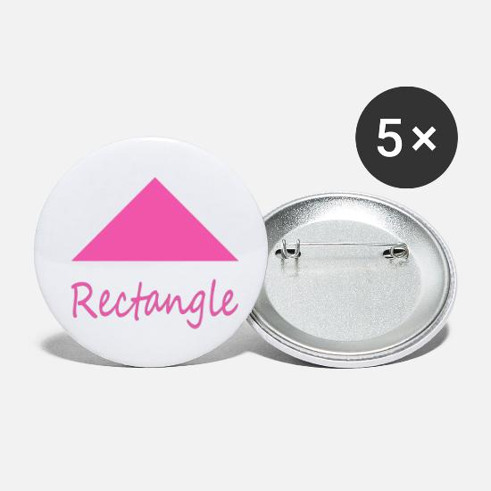 Love Buttons - Wrong Rectangle Shape - Small Buttons white