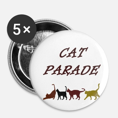 Défilé défilé de chats, chats, animal de compagnie, animal, défilé, coloré - Badge petit 25 mm
