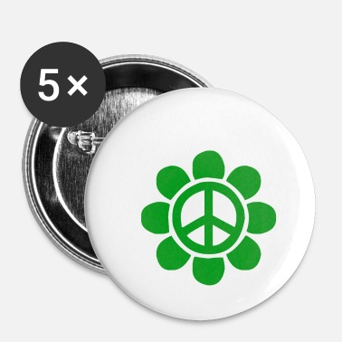 Green Peace Green peace flower for peace - Buttons small 25 mm