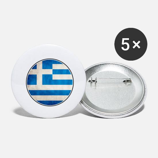 Birthday Buttons - Greece Athens Crete - Small Buttons white