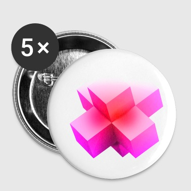 art abstrait cubes 2 - Badge petit 25 mm