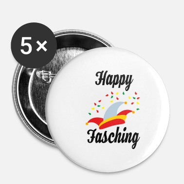 Fasching Happy Fasching - Buttons klein 25 mm