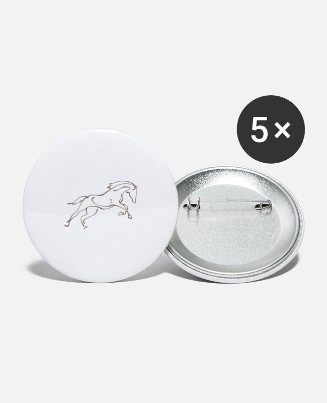 Dressage Horse Buttons - stallion - Small Buttons white