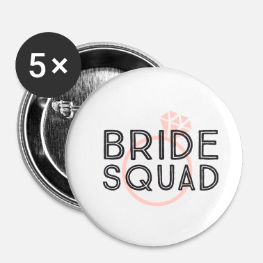 Celibenubile Bride squad, team sposa, anello diamante rosa - Spilla piccola 25 mm