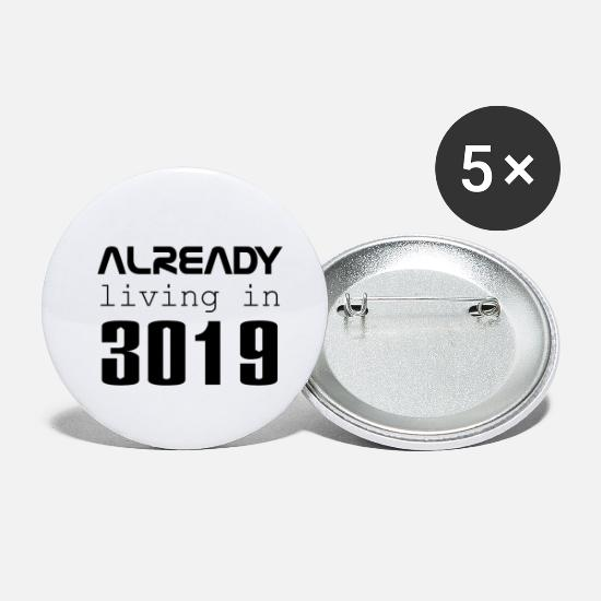 Mode Buttons & Anstecker - Already living in 3019 - Buttons klein Weiß